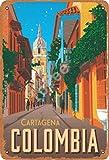Tofee Cartagena Kolumbien Eisen Poster Vintage Malerei