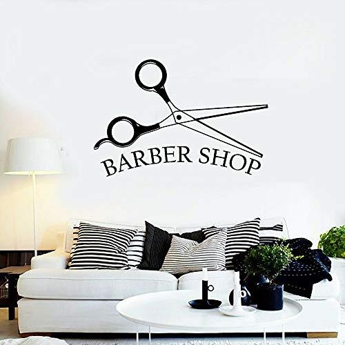 Tianpengyuanshuai kapper vinyl muurtattoos schoonheid kapper kapper haarkapper gereedschap wandsticker mannen kapsalon decoratie woonkamer