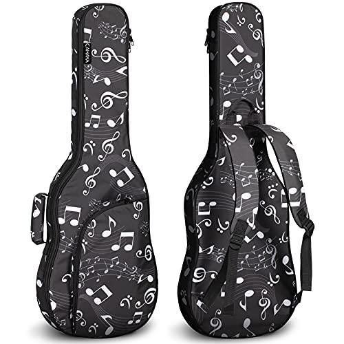 CAHAYA Bolsa Guitarra Electrica Funda para Guitarra Electrica Acolchada de 6mm con 2 Bolsillos para Libros de Música y Accesorios 3 Formas de Transporte Diseño Unico de Nota