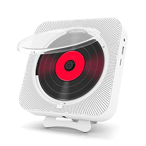 KKING Reproductor De CD Portátil con Bluetooth 5.0 Y Altavoces HiFi Integrados para El Aprendizaje De Los Niños, La Lectura, La Educación Infantil Y La Educación Fetal Radio CD