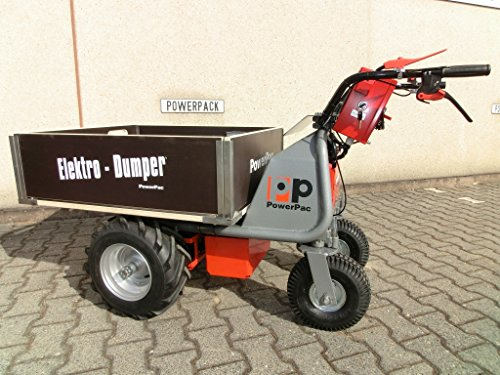 DAS ORIGINAL – MADE IN GERMANY – POWERPAC MCE400 mit 110ltr. Mulde – AKKUSCHUBKARRE ELEKTROSCHUBKARRE SCHUBKARRE DUMPER MOTORSCHUBKARRE - 9