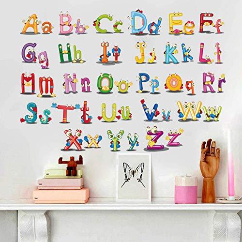 Zxdcd Puzzel Vroeg Onderwijs Plakken 26 Engels Alfabet Muurstickers voor Kids Kamers Cartoon Art Slaapkamer Muurdecoratie B