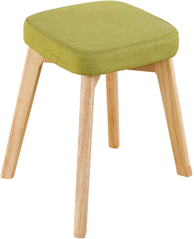 CAIJUN Chair Solid Wood Sponge Cushion No Backrest Multifunction Assembly Non-Slip Comfortable Simple, 3 colors (color   C, Size   37x37x46cm)
