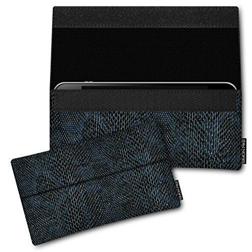 SIMON PIKE Hülle Tasche kompatibel mit Samsung Galaxy S8 Active | Schutztasche Newyork in 01 schwarz Schlange aus Kunstleder Handyhülle