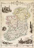 Poster 50 x 70 cm: Karte von Irland von Thomas Wright (18.