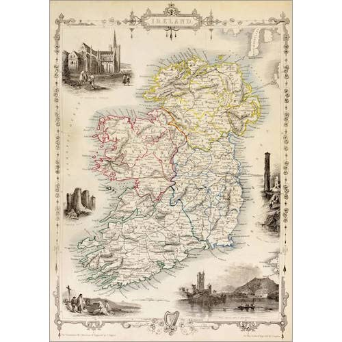 Irland Karte Rundreise.Irland Karte Amazon De