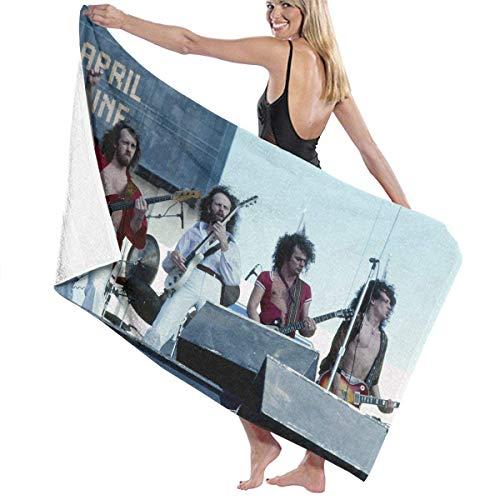 Toalla de playa de microfibra para hombre y mujer, toalla de baño de vino de abril, toalla de playa de secado rápido para viajes, natación, piscina, yoga, camping, gimnasio, deporte, 81 x 132 cm