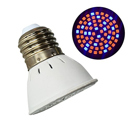 LEDMOMO Lampadina LED Grow, E27 6W 72 LEDs Lampadina per piante da interno Serra da giardino idroponica