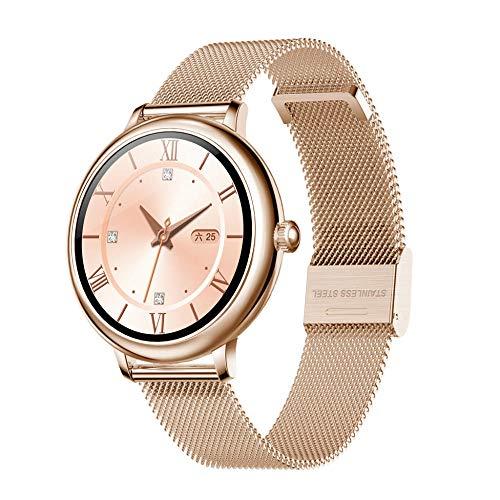 Smartwatch Mujer, Reloj Inteligente Deportivo Pulgadas Completa IP69, Monitor de Sueño, Seguimiento del Menstrual, Control de Musica, Regalo Navidad
