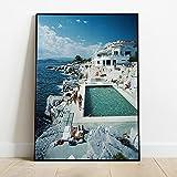 Verano piscina fiesta pared arte lienzo impresión cartel nórdico fotografía sala de estar decoración imagen 40x60cmx1 sin marco