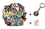 Top Aufkleber! Set von 30 Harry Potter Aufkleber + Schlüsselbund - Vinyls Stickers Nicht Vulgär – Fashion, Stil, Bombe, Graffiti - Anpassung Laptop, Gepäck, Motorrad, Fahrrad, Skate