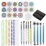 UEXCN 35pcs Mandala Dotting Pen Set de herramientas para pintar piedra de roca acrílico Stick Brush hacer diversión en casa