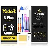 Yodoit Batería para iPhone 6 Plus 4000mAh bateria Recambio, Aumento del 37% de la Capacidad de la batería Reemplazo de Alta Capacidad Batería con Kits de Herramientas de reparación