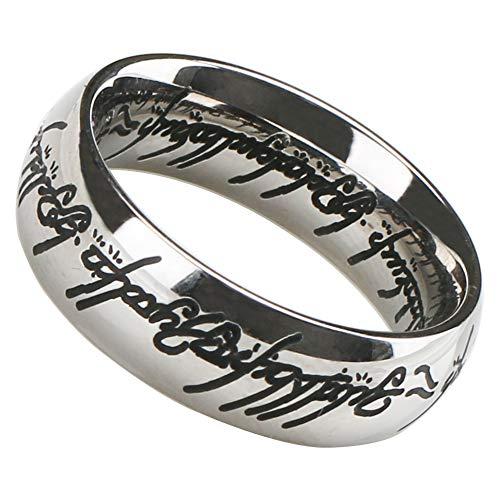 [silver KYASYA]ステンレス 火文字 リング シンプル シルバー 指輪 メンズ レディース リング(19)