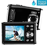 Underwater Digital Camera, Heegomn 12MP 1080P 3M Waterproof Digital Camera: Swimming Pool Underwater Camcorder, Waterproof Sports Camera with 8X Digital Zoom, Rechargeable Battery