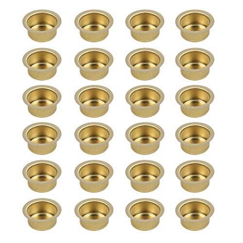 BODA Creative Kerzeneinsatz aus Metall, Durchmesser, 14 mm, Kerzentülle Kerzenhalter aus Metall für Baumkerzen, Puppenkerzen, Pyramidenkerzen, 24 Stück