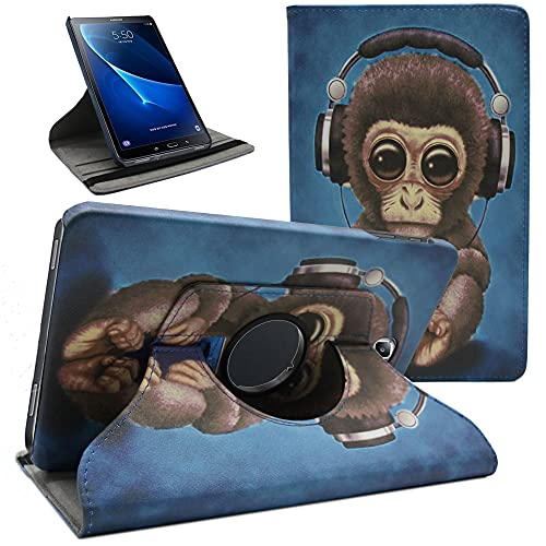 Amlope Funda para Samsung Galaxy Tab A 10.1 (SM-T580/T585/T587), Galaxy Tab A6 10.1 - Ligera Función de Soporte Protectora Plegable Smart Cover Carcasa