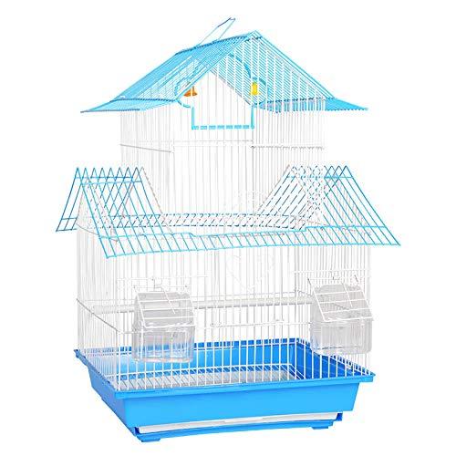 MJBABY Gabbia per Uccelli per criceti storno Pappagallo Gabbia per piccioni mughetto Universale Nido per Uccelli Forniture per Uccelli Medio Gabbia per Uccelli Villa-Blu