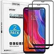 OMOTON Xiaomi Mi 8 Protector Pantalla Mi 8 Cristal Templado Xiaomi Mi 8, Cobertura Completa, Anti- despegamiento, Anti-Burbujas, Anti-arañazos, NO para XIAOMI MI 8 Pro [2 Piezas]