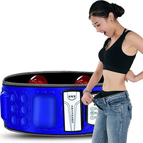 BCQ Elektrisch vibrierender Schlankheitsgürtel, Elektrisch Gürtel Multifunktionales Massagegerät, Bauchfettverbrennungsheizung für Frauen und Männer