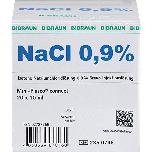 Isotone Kochsalzlösung NaCl 0,9% Braun Mini-Plasco connect, 20 ml Lösung