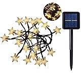 Alioay イルミネーションライト 30LED 星 ソーラー充電式 ストリングライト クリスマス ツリー led 飾り ライト アウトドア 全長6.5m 防水 自動点灯/消灯 パーティー/アウトドア/結婚式/庭/部屋にも対応