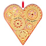 Hallmark Keepsake Christmas Ornament 2020 Our Love Just Works Gears Heart Metal