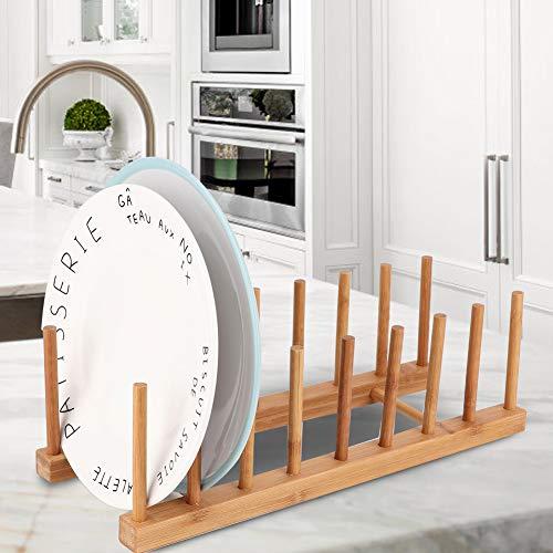 BOLORAMO Estante de Platos, Estante de Cocina fácil de Montar el Tenedor de la Estera para el hogar(8 Celdas)