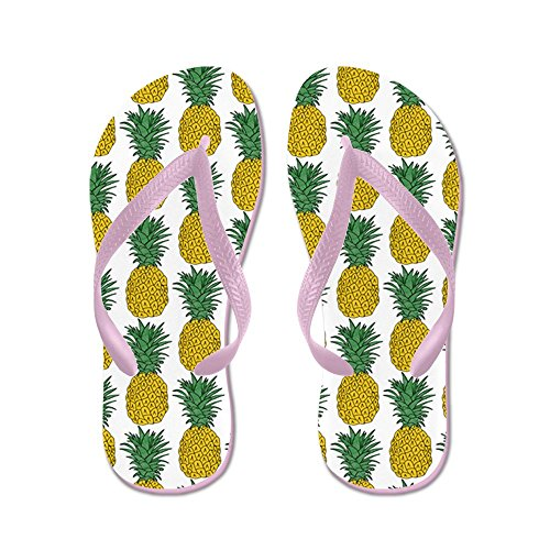 CafePress - All Over Pineapple Pattern - Flip Flops, Funny Thong Sandals, Beach Sandals Pink