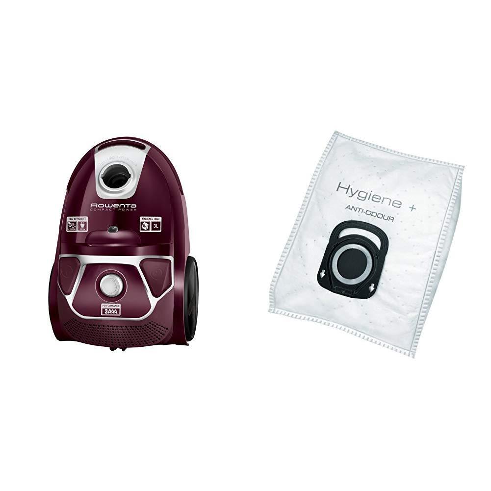 Rowenta Compact Power Morado RO3969EA - Aspirador trineo con bolsa de alta filtración y filtro permanente gran eficiencia + ZR200720 - Bolsas de Aspiradoras de Higiene, 4 Piezas: Amazon.es: Hogar
