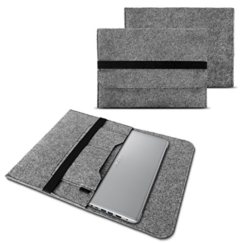 NAUC Notebook Tasche kompatibel mit Acer Swift 1 2 3 5 7 14 Zoll Hülle Filz Sleeve Hülle Schutzhülle Cover, Farben:Grau
