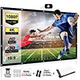 Chalpr Projector Screen 120 inch 16:9 HD Anti-Crease Portable Projection Screen, Foldable Indoor...