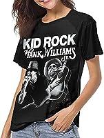 ハンクウィリアムズジュニア野球Tシャツ女性夏のレジャートップスファッション半袖Tシャツ-Small