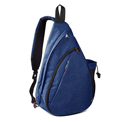 OutdoorMaster Sling Bag - Small Crossbody Backpack for Men & Women (Dark Blue)