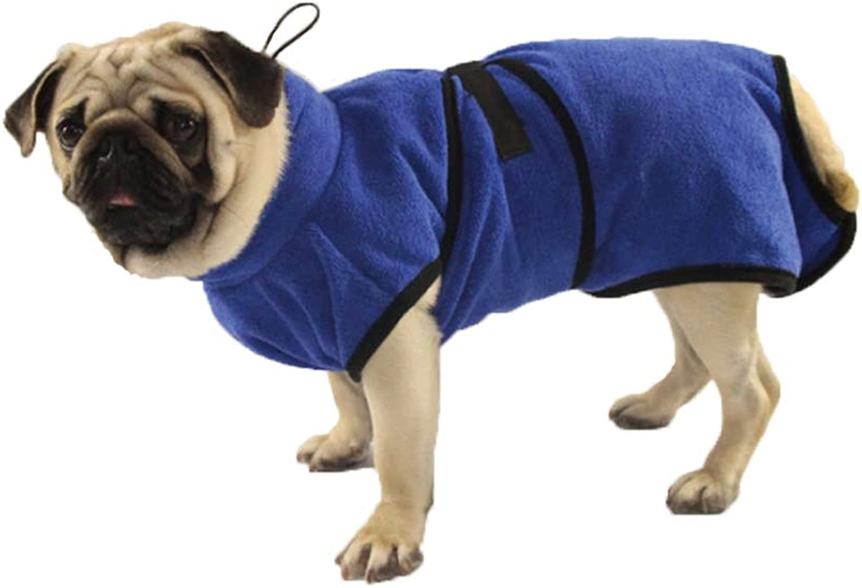 Microfiber Pet Towel Bath Robe Cat Dog Bath Special Bathrobe,bluee,S