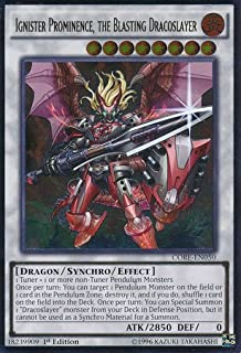 Yu-Gi-Oh! - Ignister Prominence, the Blasting Dracoslayer (CORE-EN050) - Clash of Rebellions - 1st Edition - Ultimate Rare