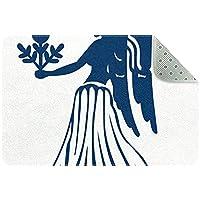 乙女座 キッチン、ベッドルーム、リビングルーム用の洗えるフロアマットラグ長方形の保育園用ラグ