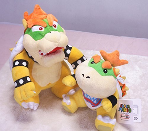 Speedup Super Mario 6.5' Bowser Jr. and 10' Standing Bowser Koopa King Character Stuffed Plush Toy Figure Gift