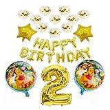 "JSJJAEA Number Balloon 1set Winnie The Pooh Cartoon Foil Balloons Happy Birthday Decorations Air Balloon Decoration Children 32""Number Toys Set decoration (Color : Dragon Ball 2 6pcs)"