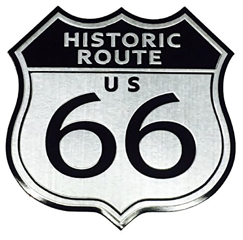 【Cat fight】 アルミ製 エンブレム U.S. Route 66 ルート66 レトロ ステッカー (HISTORIC ROUTE66)