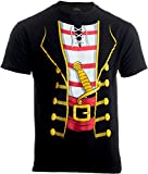 Pirate Buccanneer | Jumbo Print Novelty Halloween Costume Unisex T-Shirt-Adult,M Black
