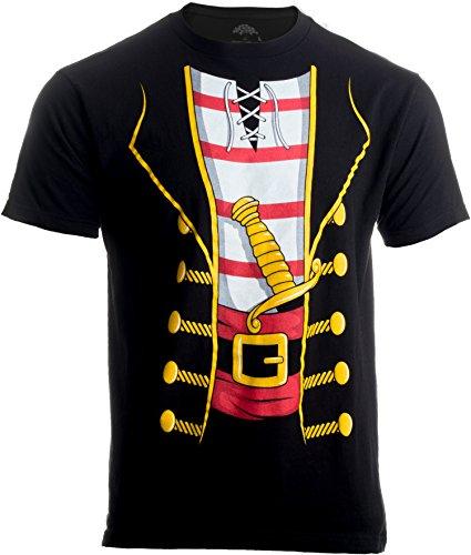 Pirate Buccanneer | Jumbo Print Novelty Halloween Costume Unisex T-Shirt-Adult,S Black