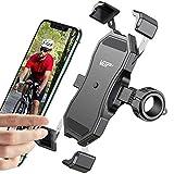 VUP Handyhalterung Fahrrad, 360°verstellbare Fahrrad Handyhalterung, universale Edelstahl Fahrrad Handyhalterung für Allen Handy, automatisches Schrumpfen Handyhalterung für Rennrad MTB Scooter usw.