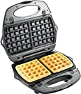 T-fal 1500637135 SW6100 EZ Clean Easy to Clean Nonstick Sandwich and Waffle Maker with Removable Dishwasher Safe Plates, 2-Slice, Silver #2