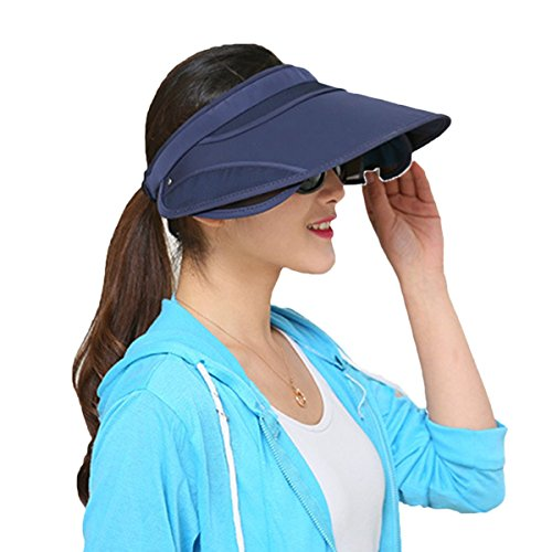 TININNA Mode Soleil Chapeaux Cappello- Visière de Course, uni, Grand Bord Large Chapeau scalabile et réglable. Marina