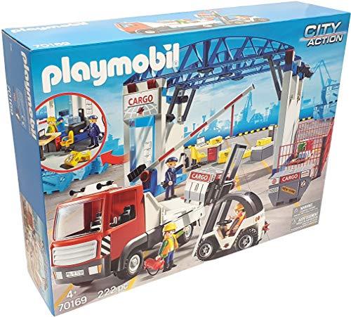 Playmobil 70169 - CARGOHALLE MEGASET MIT GABELSTABLER & CONTAINERTRUCK