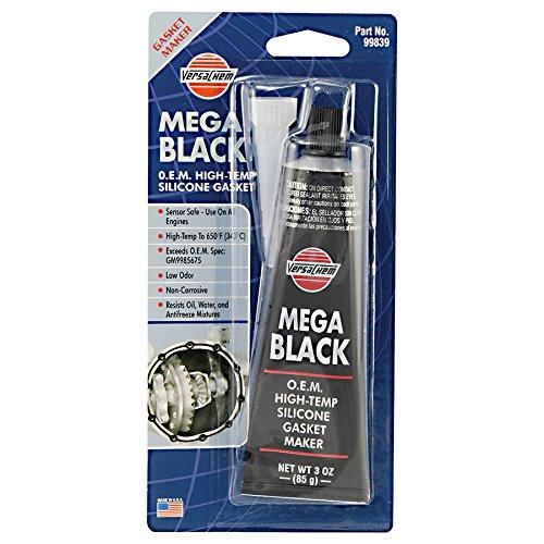 Versachem 99839 Mega Black OEM Silicone - 3 oz.