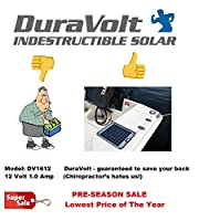 """Now 20 Watt 1.0 Amp - Solar Battery Charger - Boat, RV, Marine & Trolling Motor Solar Panel - 12 Volt - No Experience Plug & Play Design. Dimensions 14.1"""" L x 15.7"""" W x 1/4"""" Thick. 10' Cable."""