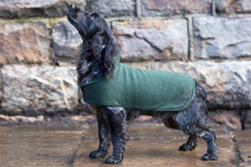 Dog & Field Manteau Double Couche en Tissu éponge Vert Olive Taille XS