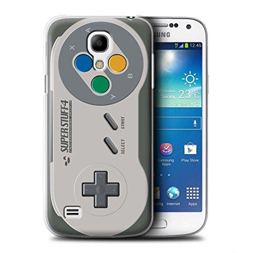 Hülle Für Samsung Galaxy S4 Mini Spielkonsolen Super Nintendo Design Transparent Ultra Dünn Klar Hart Schutz Handyhülle Case